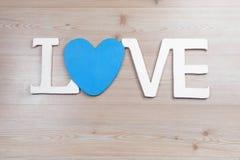 Amour et coeur de lettres Images stock