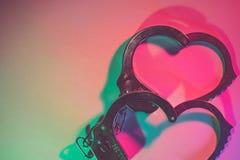 Amour et coeur en couleurs et l'acier Photos libres de droits