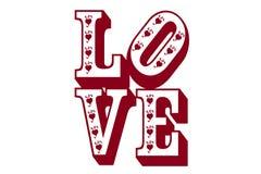 Amour et coeurs Illustration de Vecteur
