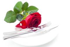 Amour et dîner Photos stock