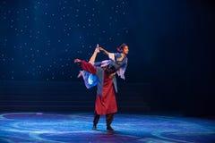 Amour et danse folklorique tristesse-chinoise Photographie stock