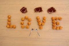 Amour et desserts Photo libre de droits