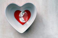 Amour et diamant Images stock