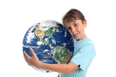 Amour et entretenir notre terre de planète du monde Image stock