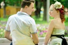 Amour et famille de mariage de photo-visite de mariage d'été de mariage Image libre de droits