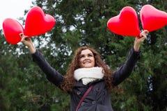Amour et femme de jour de valentines Photos stock