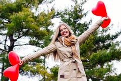 Amour et femme de jour de valentines Image libre de droits