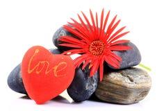 Amour et fleur Photos stock