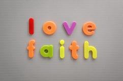 Amour et foi Image libre de droits