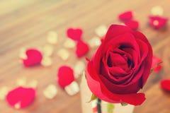 Amour et fond romantique de bonbon à rose de valentine Photo libre de droits