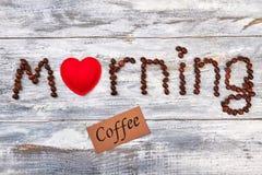 Amour et graine de café de signe Photos libres de droits