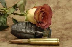 Amour et guerre Image libre de droits
