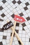 Amour et haine Image libre de droits