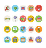 Amour et icônes colorées Romance 3 de vecteur Photo stock