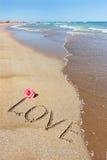Amour et la mer Photographie stock libre de droits