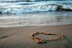 Amour et la mer Images libres de droits