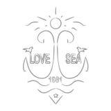 Amour et la mer Images stock