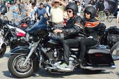 Amour et liberté sur la motocyclette à Padoue Images libres de droits