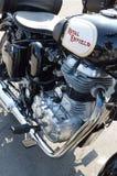 Amour et liberté sur la motocyclette à Padoue Photo stock