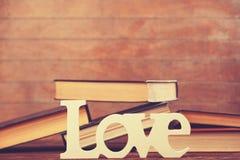 Amour et livres de Word Photos libres de droits