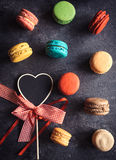 Amour et macarons Photo stock