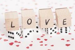 Amour et matrices sur le fond de coeur. Photographie stock