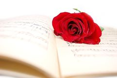 Amour et musique Images libres de droits