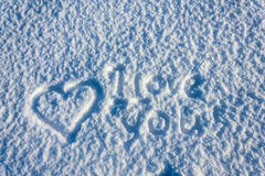 Amour et neige Image stock