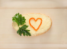 Amour et nourriture Photographie stock