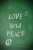 Amour et paix Photos libres de droits
