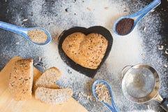 Amour et passion pour le pain complet Image stock