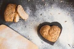 Amour et passion pour le pain complet Photographie stock libre de droits