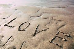 Amour et plage Image libre de droits