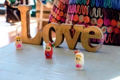 Amour et poupées russes Photos libres de droits
