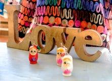 Amour et poupées russes Photo libre de droits