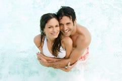 Amour et rafraîchissement d'été Image stock