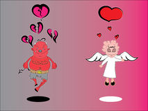 Amour et séparation Image stock