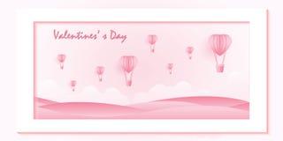 Amour et Saint Valentin sur le fond rose doux illustration de vecteur