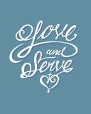 Amour et service Photographie stock