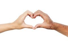 Amour et soin Image libre de droits