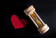 Amour et temps passant, concept. Images stock