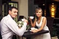 Amour et un peu de café Image stock