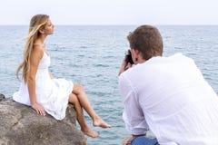 Amour et vacances Photo stock