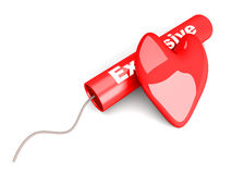Amour explosif Illustration Stock