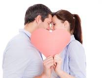 Amour extérieur de l'hiver de couples Photographie stock