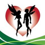 Amour féerique de couples Images stock