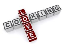 Amour faisant cuire le signe Image stock
