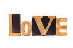 Amour fait de blocs en bois de lettre Photo libre de droits