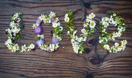 AMOUR fait de fleurs Images libres de droits