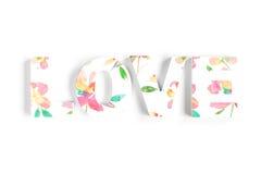 Amour fait de fleurs fleuries Photos libres de droits